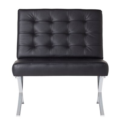Atrium Bonded Leather Lounge Chair Upholstery: Black