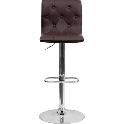 23.5 Swivel Bar Stool Upholstery: Brown