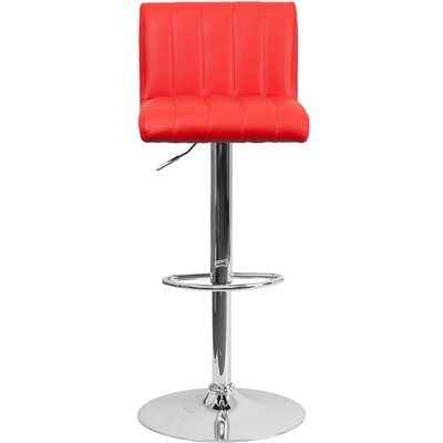 24.75 Swivel Bar Stool Upholstery: Red