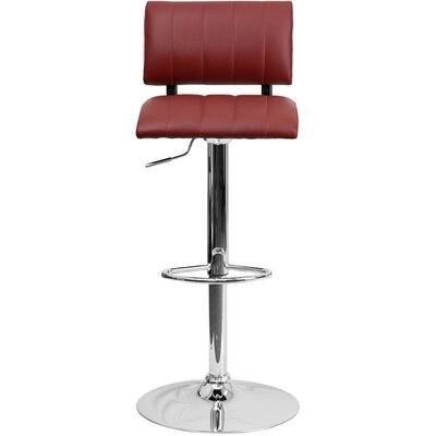 24.5 Swivel Bar Stool Upholstery: Burgundy/White