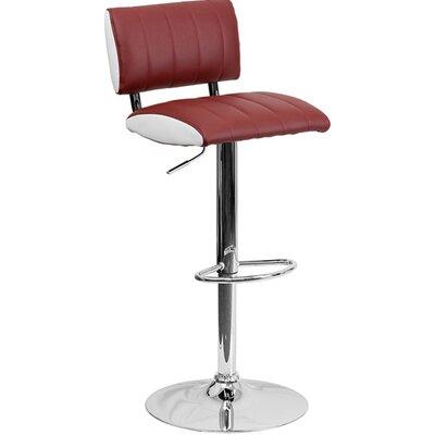 24.5 Swivel Bar Stool Upholstery: Burgundy/White