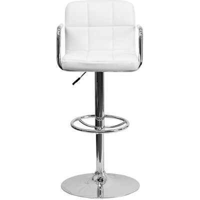 24.75 Swivel Bar Stool Upholstery: White