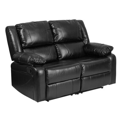 Harmony Series Leather Reclining Loveseat
