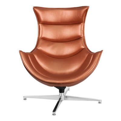 Swivel Lounge Chair Upholstery: Copper