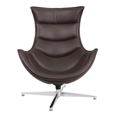 Swivel Lounge Chair Upholstery: Brown