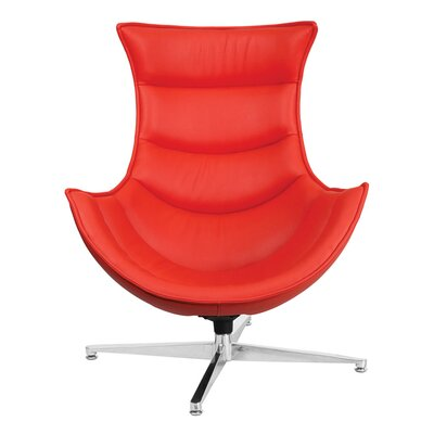 Swivel Lounge Chair Upholstery: Red