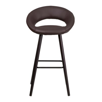 Goodale 30 Bar Stool Upholstery: Brown