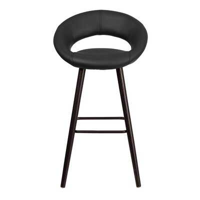 Goodale 30 Bar Stool Upholstery: Black