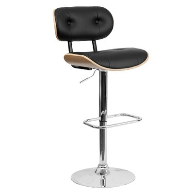 Adjustable Height Swivel Bar Stool Finish: Beech