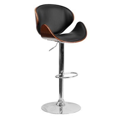 33 Swivel Bar Stool Finish: Walnut