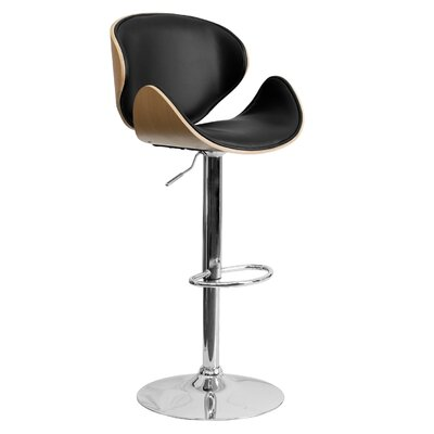 33 Swivel Bar Stool Finish: Beech