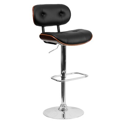Adjustable Height Swivel Bar Stool Finish: Walnut
