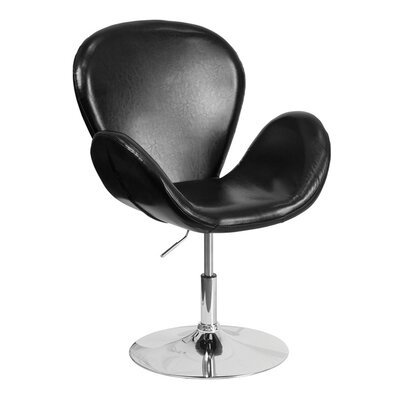 Orlie Leather Lounge Chair Finish: Black