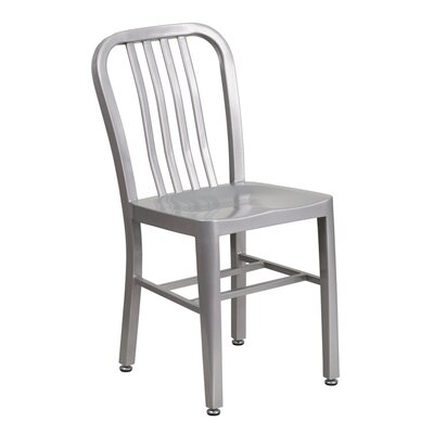 Metal Indoor/Outdoor Side Chair Color: Silver