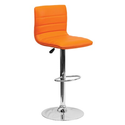 33 Swivel Bar Stool Upholstery: Orange
