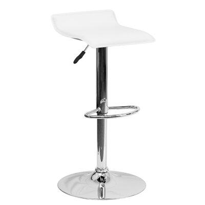 31.25 Swivel Bar Stool Upholstery: White