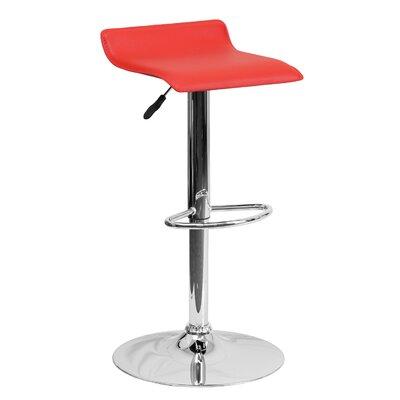 31.25 Swivel Bar Stool Upholstery: Red