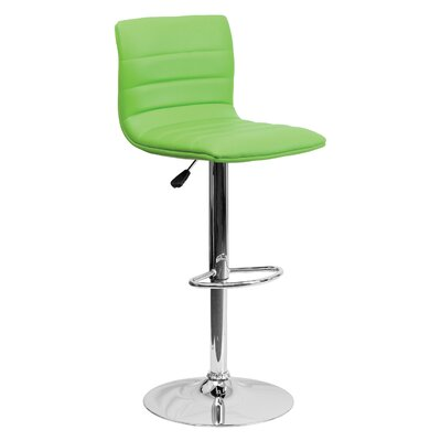 33 Swivel Bar Stool Upholstery: Green