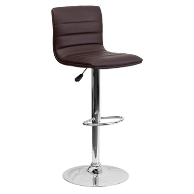 33 Swivel Bar Stool Upholstery: Brown