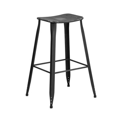 29.75 Bar Stool Finish: Distressed Black