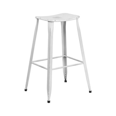29.75 Bar Stool Finish: Distressed White