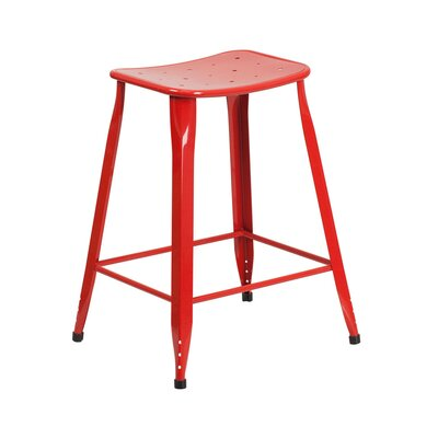Chilmark 24 Bar Stool Color: Red