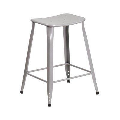Chilmark 24 Bar Stool Color: Silver
