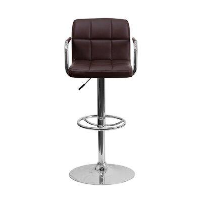 Eamor 33.5 Swivel Bar Stool Upholstery: Brown