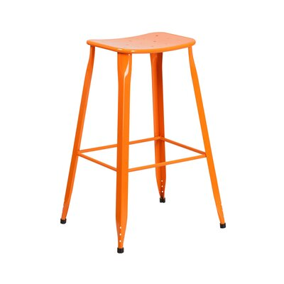 29.75 Bar Stool Finish: Orange