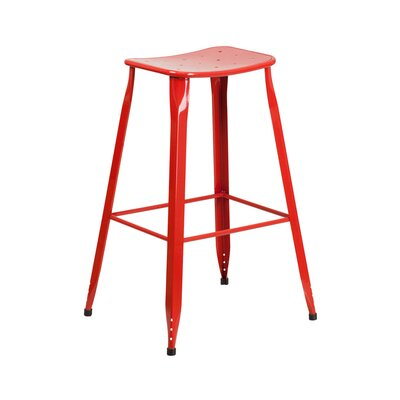 29.75 Bar Stool Finish: Red