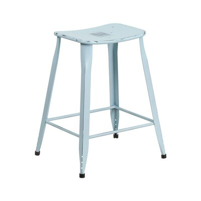 Henriquez 24 inch Bar Stool Finish: Distressed Dream Blue