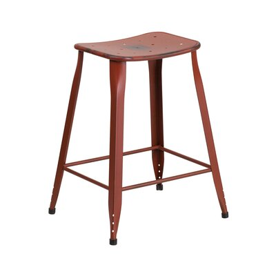 Chilmark 24 Bar Stool Color: Distressed Kelly Red