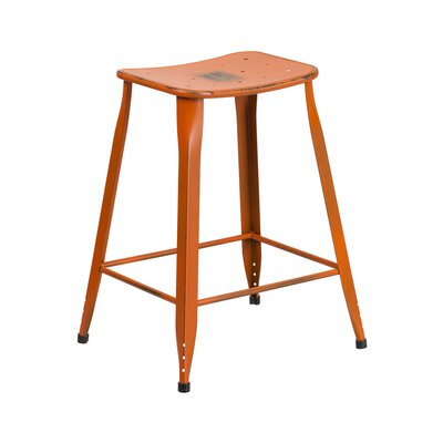 Chilmark 24 Bar Stool Color: Distressed Orange