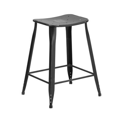 Henriquez 24 Bar Stool Finish: Distressed Black