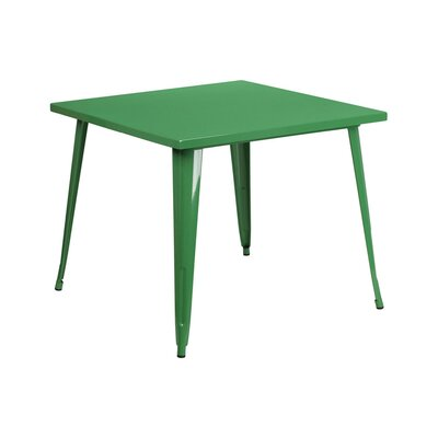 Dining Table Color: Green