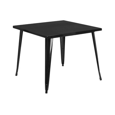 Square Metal Indoor/Outdoor Pub Table Finish: Black