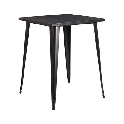 Pub Table Color: Black-Antique Gold
