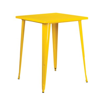 Square Pub Table Finish: Yellow