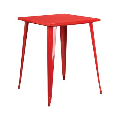 Square Pub Table Finish: Red