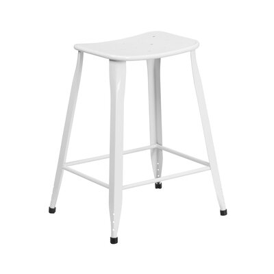 Chilmark 24 Bar Stool Color: White