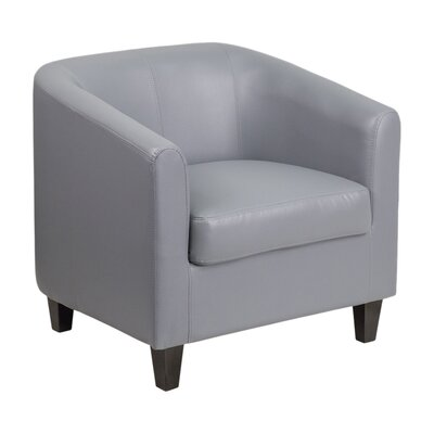 Leather Reception Chair Seat Color: Gray