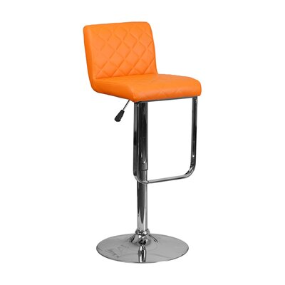 Farley 33.5 Swivel Bar Stool Upholstery: Orange