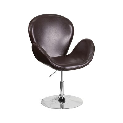 Orlie Leather Lounge Chair Finish: Brown