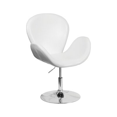 Orlie Leather Lounge Chair Finish: White