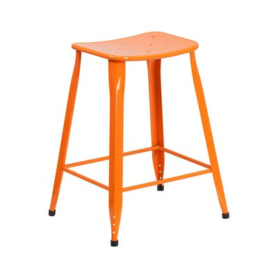Chilmark 24 Bar Stool Color: Orange