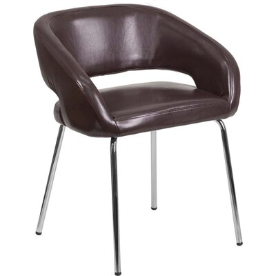 Leather Lounge Chair Finish: Brown
