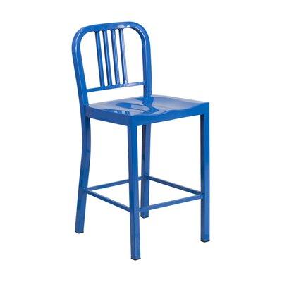 Charles 24 Bar Stool Finish: Blue