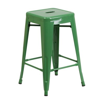24 inch Bar Stool Finish: Green