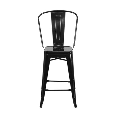 Charles 24 Bar Stool Finish: Black