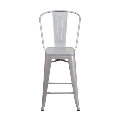 Charles 24 Bar Stool Finish: Silver